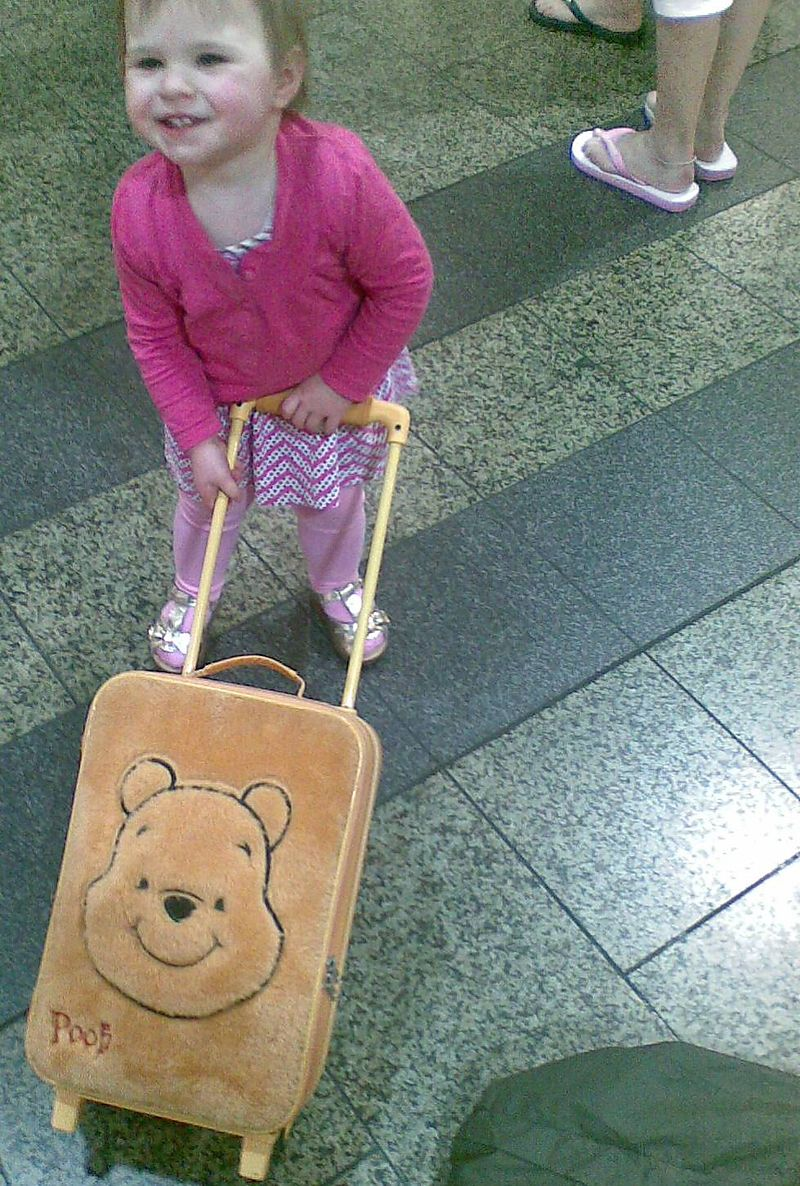 Mahlie at airport