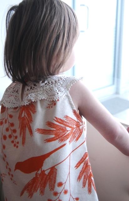 Linen Doily Dress in 'Acacia' by Lara Cameron